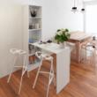 Többfunkciós íróasztal, fehér, JASMIN 5