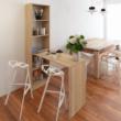 Többfunkciós íróasztal, tölgy sonoma, JASMIN 4