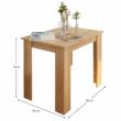 Étkezőasztal, sonoma tölgy, 86x60 cm,  TARINIO 3