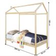 Montessori ágy, fenyő fa, természetes, ATIMAD 1