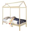 Montessori ágy, fenyő fa, természetes, ATIMAD 2