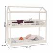 Montessori emeletes ágy, fehér, 90x200, ZEFIRE 1