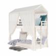 Montessori emeletes ágy, fehér, 90x200, ZEFIRE 3
