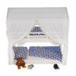 Montessori emeletes ágy, fehér, 90x200, ZEFIRE 5