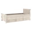 Ágy pótággyal, antik fehér, 90x200, ANTIKO 2