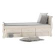 Ágy pótággyal, antik fehér, 90x200, ANTIKO 4