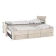 Ágy pótággyal, antik fehér, 90x200, ANTIKO 5