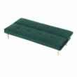 Kanapé széthúzhatós,  smaragd/tölgy, ALIDA 4
