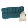 Széthúzhatós kanapé, petróleum Velvet anyag/gold króm-arany, RODANA 5