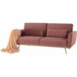 Széthúzhatós kanapé, rózsaszín Velvet anyag/gold króm-arany, HORSTA 3