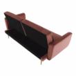 Széthúzhatós kanapé, rózsaszín Velvet anyag/gold króm-arany, HORSTA 4