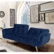 Széthúzhatós kanapé, királykék/tölgy, FILEMA 1