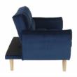 Széthúzhatós kanapé, királykék/tölgy, FILEMA 4
