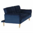 Széthúzhatós kanapé, királykék/tölgy, FILEMA 5