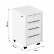 Irodai konténer zárral, fehér, RIOMA TYP 30 2