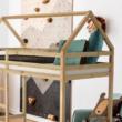 Elemetes ágy, természetes, 90x200, FREYA 1