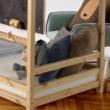 Elemetes ágy, természetes, 90x200, FREYA 4