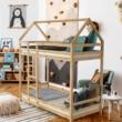 Elemetes ágy, természetes, 90x200, FREYA 5