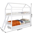 Elemetes ágy, fehér, 90x200, EVALIA 1