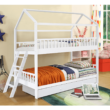 Elemetes ágy, fehér, 90x200, EVALIA 2