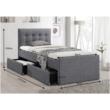 Modern ágy, szürke, 90x200, VISKA NEW 1