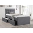 Modern ágy, szürke, 90x200, VISKA NEW 2