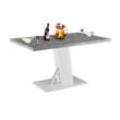 Étkezőasztal, beton/fehér extra magas fényű HG, 138, BOLAST 2