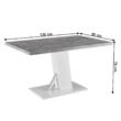Étkezőasztal, beton/fehér extra magas fényű HG, 138, BOLAST 3