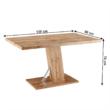 Étkezőasztal, tölgy wotan, 138, BOLAST 3