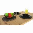 Étkezőasztal kinyitható, artisan tölgy/szürke beton, ERIDAN 2
