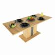 Étkezőasztal kinyitható, artisan tölgy/szürke beton, ERIDAN 3