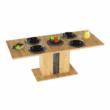Étkezőasztal kinyitható, artisan tölgy/szürke beton, ERIDAN 4