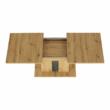 Étkezőasztal kinyitható, artisan tölgy/szürke beton, ERIDAN 5