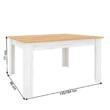 Étkezőasztal kinyitható,  tölgy craft arany/tölgy craft fehér, SUDBURY 1