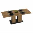 Étkezőasztal, tölgy craft arany/grafit szürke, FIDEL 1