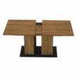 Étkezőasztal, tölgy craft arany/grafit szürke, FIDEL 2