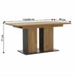 Étkezőasztal, tölgy craft arany/grafit szürke, FIDEL 3