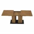 Étkezőasztal, tölgy craft arany/grafit szürke, FIDEL 4