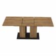 Étkezőasztal, tölgy craft arany/grafit szürke, FIDEL 5