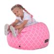 Babzsák, rózsaszínes-fehér minta, GOMBY 1