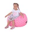 Babzsák, rózsaszínes-fehér minta, GOMBY 3