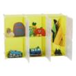 Gyerek szekrény, zöld/gyerek minta, TEKIN 4