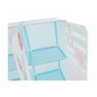 Gyerek szekrény, kék/gyerek minta, EDRIN 2