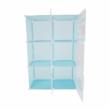 Gyerek szekrény, kék/gyerek minta, EDRIN 3