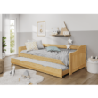 Ágykeret kihúzható pótággyal, fenyő tömörfa, 90x200, LAURA 3