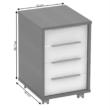 Irodai konténer, grafit/fehér, RIOMA NEW TYP 14 1