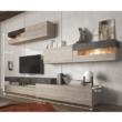 Nappali szekrénysor, DTD laminált, beton/nelson tölgyfa, IOVA 1
