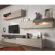 Nappali szekrénysor, DTD laminált, beton/nelson tölgyfa, IOVA 2