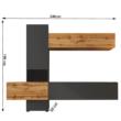 Nappali sor, lava barna szuper matt/tölgy wotan, BRISTOL 1
