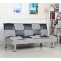 Dino kanapé világosszürke - textilbőr fekete